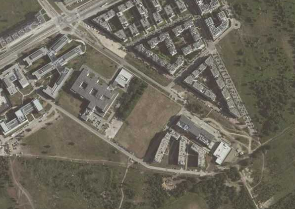 Geoportal krajowy - lokalizacja działki w terenie.