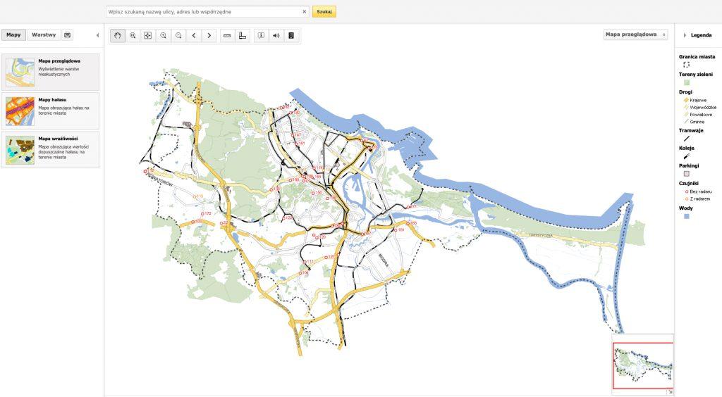 Mapa akustyczna Miasta Gdańsk