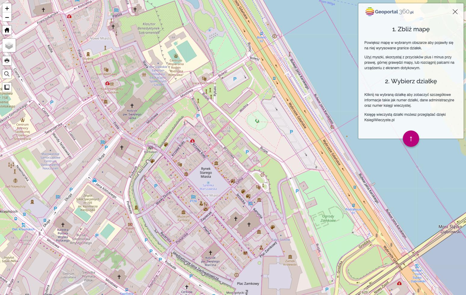 Mapa Z Numerami I Granicami Dzialek Geoportal360 Pl
