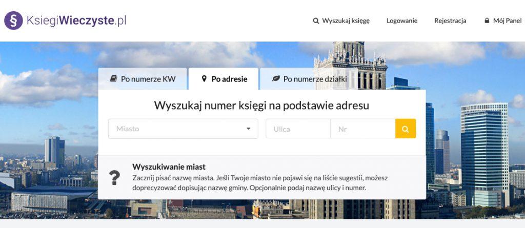 Ksiegiwieczyste.pl - wyszukiwarka numerów KW po adresie nieruchomości